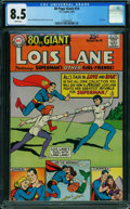 Silver Age (1956-1969):Superhero, 80 Page Giant 14 Lois Lane (DC, 1965) CGC VF+ 8.5 WHITE pages.