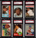 Autographs:Sports Cards, Signed 1956-67 Topps Elston Howard SGC Authentic Collection (6)....