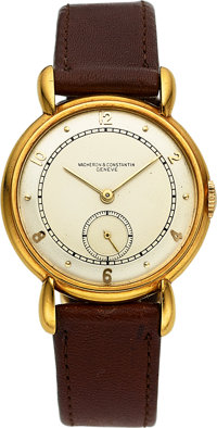 Vacheron & Constantin Vintage Gold Watch With Tear Drop Lugs, circa 1940's