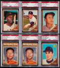 Baseball Cards:Lots, 1962 Topps Baseball PSA Graded Collection (6) - Includes HOFers. ....