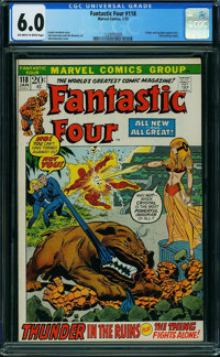 Fantastic Four #118 (Marvel, 1972) CGC FN 6.0 OFF-WHITE TO WHITE pages