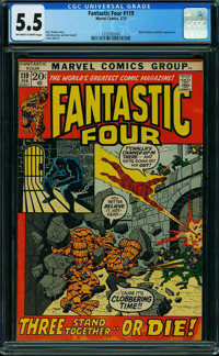 Fantastic Four #119 (Marvel, 1972) CGC FN- 5.5 OFF-WHITE TO WHITE pages