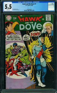Hawk and the Dove #1 (DC, 1968) CGC FN- 5.5 WHITE pages