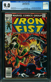 Iron Fist #15 (Marvel, 1977) CGC VF/NM 9.0 WHITE pages