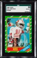 Football Cards:Singles (1970-Now), 1986 Topps Jerry Rice #161 SGC 88 NM/MT 8. . ...