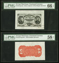 Fractional Currency:Third Issue, Fr. 1275SP 15¢ Third Issue Wide Margin Face PMG Gem Uncirculated 66 EPQ. Fr. 1273SP 15¢ Third Issue Wide Margin Red Back P... (Total: 2 notes)