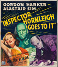 "Movie Posters:Crime, Inspector Hornleigh Goes to It (20th Century Fox, 1941). BritishTwelve Sheet (80"" X 81""). Crime.. ..."