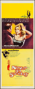 "Movie Posters:Foreign, Never on Sunday (Lopert, 1960). Insert (14"" X 36""). Foreign.. ..."