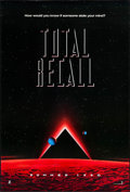 """Movie Posters:Science Fiction, Total Recall & Other Lot (Tri-Star, 1990). One Sheets (2) (Approx. 26.5"""" X 39.5) SS Teaser. Science Fiction.. ... (Total: 2 Items)"""
