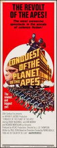 """Movie Posters:Science Fiction, Conquest of the Planet of the Apes (20th Century Fox, 1972). Insert (14"""" X 36""""). Science Fiction.. ..."""