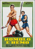 "Movie Posters:Action, Duel of the Titans (Titanus, R-1970s). Italian 2 - Fogli (39.25"" X 55""). Action.. ..."