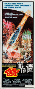 """Movie Posters:Science Fiction, At the Earth's Core (American International/Columbia, 1976). Insert(14"""" X 36"""") George Akimoto Artwork, & Belgian (14..."""