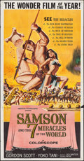 "Movie Posters:Action, Samson and the Seven Miracles of the World (American International,1961). Three Sheet (40.5"" X 78.5""). Action.. ..."