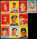 Baseball Cards:Lots, 1957 and 1958 Topps Baseball Collection (107). ...