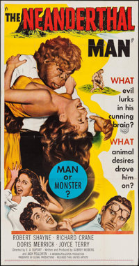 "The Neanderthal Man (United Artists, 1953). Three Sheet (41"" X 79.25""). Horror"