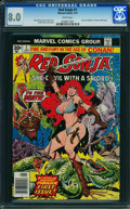 Bronze Age (1970-1979):Miscellaneous, Red Sonja #1 (Marvel, 1977) CGC VF 8.0 WHITE pages.
