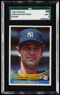 Baseball Cards:Singles (1970-Now), 1984 Donruss Don Mattingly #248 SGC 96 Mint 9. . ...