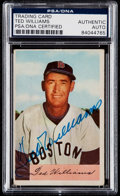 Baseball Cards:Singles (1950-1959), Signed 1954 Bowman Ted Williams #66 PSA/DNA Authentic. . ...