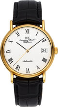 Timepieces:Wristwatch, IWC Ref. 3513 Automatic 18k Gold Portofino. ...