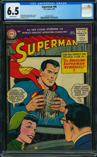 Superman #98 (DC, 1955) CGC FN+ 6.5 OFF-WHITE pages