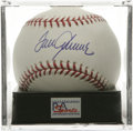 Autographs:Baseballs, Tom Seaver Single Signed Baseball, PSA Mint+ 9.5. Superb example ofHOF hurler Tom Seaver's signature is available here on ...