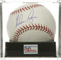 Autographs:Baseballs, Nolan Ryan Single Signed Baseball, PSA Gem Mint 10. Perfect singlecourtesy of the reigning career Strike Out and No-Hit Ki...