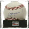 Autographs:Baseballs, Andre Dawson Single Signed Baseball, PSA Mint+ 9.5. The Hawk, as hewas known, put up tremendous numbers during the course ...