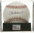 Autographs:Baseballs, Stan Musial Single Signed Baseball, PSA Mint 9. Stan the Manprovides us this OML ball adorned with an excellent sweet spot...