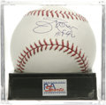 "Autographs:Baseballs, Jim Palmer ""HOF 90"" Single Signed Baseball, PSA Mint+ 9.5. The Hallof Fame Baltimore Orioles hurler applies his flawless b..."