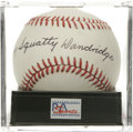 Autographs:Baseballs, Ray Squatty Dandridge Single Signed Baseball, PSA Mint 9. NegroLeague Hall of Famer Ray Dandridge offers a perfect signatu...