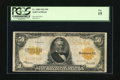 Large Size:Gold Certificates, Fr. 1200 $50 1922 Gold Certificate PCGS Fine 15. A handsome Gold Certificate with plenty of original crispness, good color a...