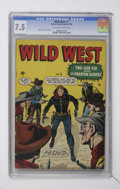 Golden Age (1938-1955):Western, Wild West #1 (Marvel, 1948) CGC VF- 7.5 Off-white to white pages.Syd Shores cover and art. Overstreet 2006 VF 8.0 value = $...