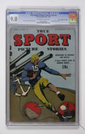 "Golden Age (1938-1955):Miscellaneous, True Sport Picture Stories V2#4 Davis Crippen (""D"" Copy) pedigree (Street & Smith, 1943) CGC VF/NM 9.0 Off-white to white page..."