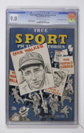 "Golden Age (1938-1955):Non-Fiction, True Sport Picture Stories V2#6 Davis Crippen (""D"" Copy) pedigree(Street & Smith, 1944) CGC VF/NM 9.0 Off-white to white page..."