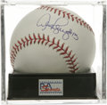 "Autographs:Baseballs, Alex Rodriguez ""#13"" Single Signed Baseball, PSA Mint 9. GiftedYankees slugger Alex Rodriguez has added a ""#13"" inscriptio..."