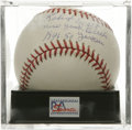 "Autographs:Baseballs, Robert Scott Single Signed Baseball, PSA Mint 9. The former NegroLeague great adds an inscription reading ""New York Black ..."