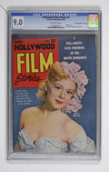 "Golden Age (1938-1955):Non-Fiction, Hollywood Film Stories #4 Davis Crippen (""D"" Copy) pedigree(Feature/Prize Publications, 1950) CGC VF/NM 9.0 Off-whitepages...."