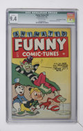 "Golden Age (1938-1955):Funny Animal, Funny Tunes #19 Davis Crippen (""D"" Copy) pedigree (Timely, 1945)CGC Qualified NM 9.4 Off-white pages...."