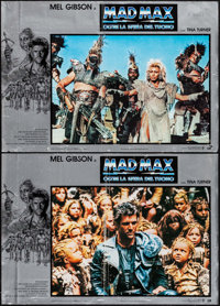 "Mad Max Beyond Thunderdome (Warner Brothers, 1985). Italian Photobustas (2) (18"" X 26""). Science Fiction..."