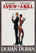 """Movie Posters:James Bond, A View to a Kill (United Artists, 1985). Soundtrack Poster (24"""" X36""""). James Bond.. ..."""