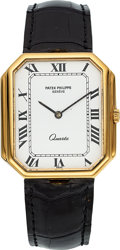 Timepieces:Wristwatch, Patek Philippe Ref. 3853 Yellow Gold Wristwatch, circa 1990's. ...