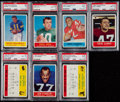 Football Cards:Lots, 1964 Philadelphia Football High Grade PSA Graded Collection (7). . ...