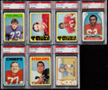 Football Cards:Lots, 1972 Topps Football PSA Graded Collection (7). . ...