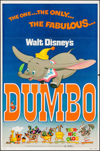 """Dumbo & Other Lot (Buena Vista, R-1976). One Sheets (2) (27"""" X 41""""). Animation. ... (Total: 2 Items)"""