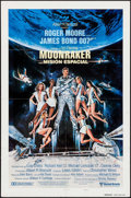 "Movie Posters:James Bond, Moonraker (United Artists, 1979). Spanish Language One Sheet (27.5"" X 39.5"") Style B Teaser Style. James Bond.. ..."