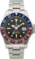 "Timepieces:Wristwatch, Rolex, Ref. 1675, ""Big Red"" Hand, GMT-Master, Circa 1972. ..."