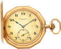 Timepieces:Pocket (post 1900), Audemars Freres Gold Dodecagon Hunters Case Watch. ...