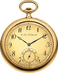 "Timepieces:Pocket (post 1900), A.H. Rodanet Gold & Enamel ""Montre Couteau"" Ultra-Thin. ..."