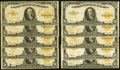 Large Size:Gold Certificates, Fr. 1173 $10 1922 Gold Certificates Ten Examples Very Good-Fine..... (Total: 10 notes)