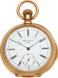 Timepieces:Pocket (pre 1900) , H.L. Matile Locle Massive & Very Fine Gold Minute Repeater...